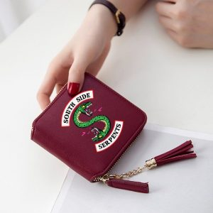 Mini Purse/Wallet – Burgundy – mod1