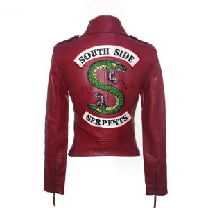 Riverdale Leather Burgundy Jacket #1